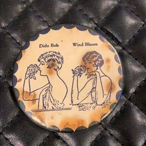 Vintage 1920s Art Deco Flapper Pocket Mirror